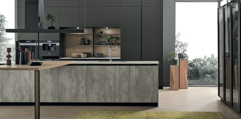 Cucine Semi Moderne.Stosa Aliant Modern Kitchen Cabinets And Furniture Stosa